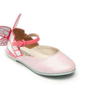 Sophia Webster Mini Chiara Glitter Butterfly Shoes